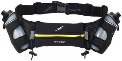 Fitletic Hydra 12 V1 Hydration Belt Unique Zero Bounce Design for Running, Triathlon, Ironman, Marathon, 10K, 5K, Trail HD06 V1