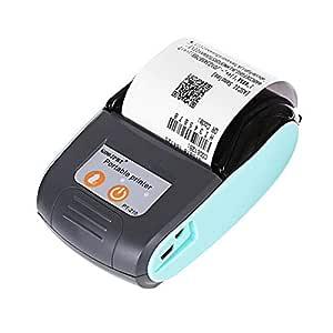 Biback Impresora térmica, 58 mm Mini impresora térmica portátil ...