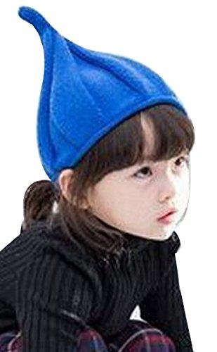 Tip Knit Hat - Thenice Child Winter Nipple Pumpkin Hat Tip Knit Caps (Royal blue)