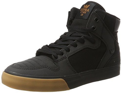 Supra Unisex Vaider Black Nubuck/Black 12 Women / 10.5 Men M US Medium (Skate Black Nubuck Shoes)