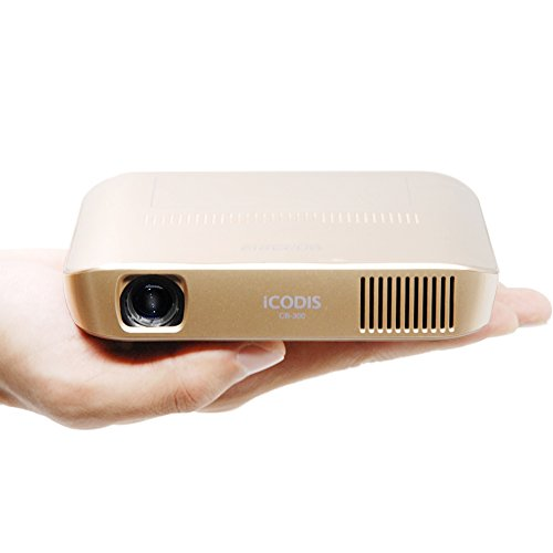 Icodis cb 300 pico projector 3d hd video with dlp 1800 for Lumen pocket projector