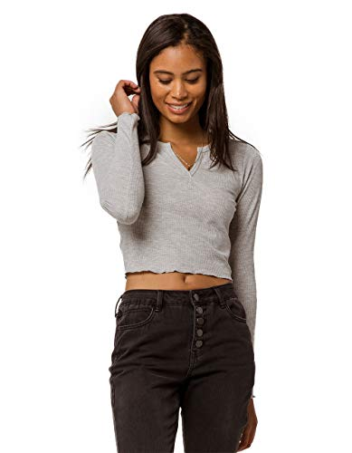 l Heather Gray Crop Top, Heather Grey, X-Large ()