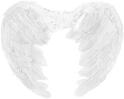 White by Robelli Kids Feathered Fancy Dress Angel Fairy Cherub Wings
