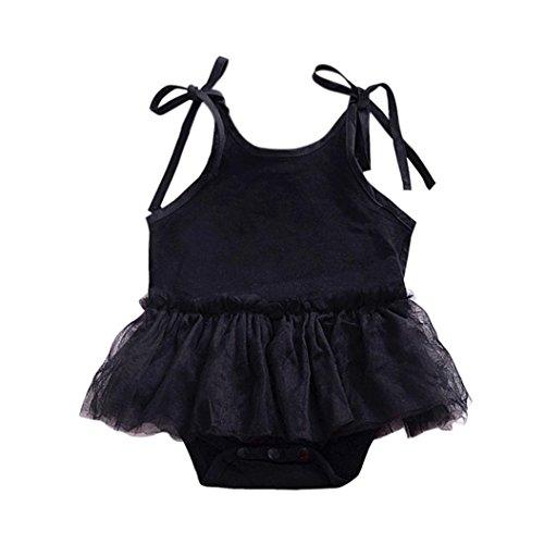 Playsuit de de de verano Ropa niña casual 24 Gasa de Correas vestidos de fiesta de princesa vestidos negro ASHOP Vestido para de 0 Vestido vestido Tutú niña meses 01dqqwYa