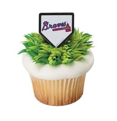 MLB Atlanta Braves Cupcake Rings - 24 ct