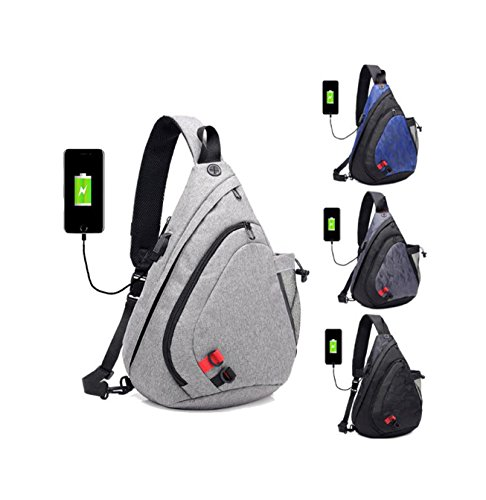 Four Wear Grey Usb Large Messenger Outdoor Optional capacity Colors Shoulder Camouflage Oxford Wj Cloth Pack Charging Chest Men's Bag qxZUXp