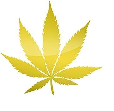 Amazon.com: RDW Metallic Marijuana Pot Leaf Sticker Die Cut 420 - Gold: Automotive