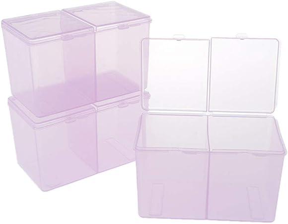 Hellery 3 Piezas Caja de Almacenamiento de Plástico Transparente ...