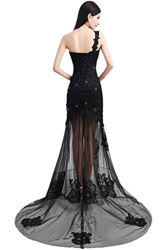 Abendkleid Ivydressing Ballkleider Schwarz Festkleid Damen Spitze Ein Schulter amp;Tuell Hpvx0rpqn