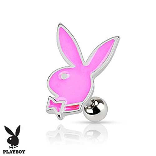Playboy Bunny Cartilage/Tragus Freedom Fashion 316L Surgical Steel - Earrings Playboy Mens
