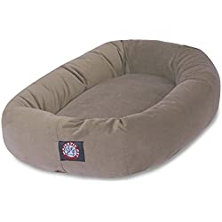 40 inch Stone Suede Bagel Dog Bed By Majestic Pet Products