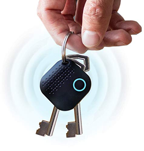 Bluetooth Key Finder Locator | Phone Finder | Wallet Finder | Item Finder with Replaceable Battery | Find Lost Items | Works with Android & IOS with App + BONUS EBOOK AND EXTRA BATTERY