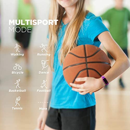 BIGGERFIVE Fitness Tracker Watch for Kids Girls Boys Teens, Activity Tracker, Pedometer, Heart Rate Sleep Monitor, Vibrating Alarm Clock, IP68 Waterproof Calorie Step Counter Watch 3