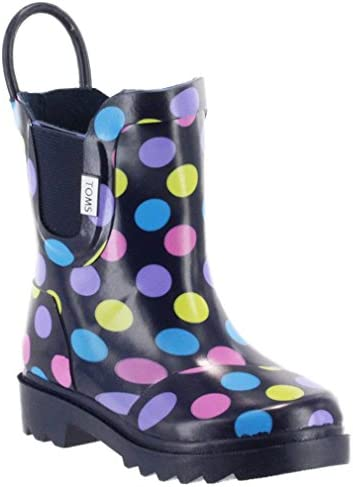 Amazon Com Toms Tiny Toddlers Rain Boots In Multi Dot Rubber 5 Boots