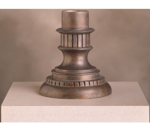 Kichler   9531LZ Cast Aluminum Outdoor Pedestal Mount Adaptor, Legacy Bronze