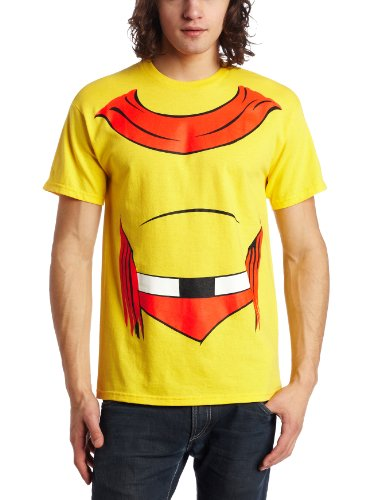 [Mad Engine Men's Mighty Mouseman Or Mouse T-Shirt, Yellow, Large] (Mighty Mouse Costumes)
