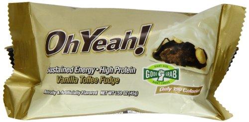 ISS Oh Yeah! Protein Bar 45g, Vanilla Caramel Fudge (Pack de 12)