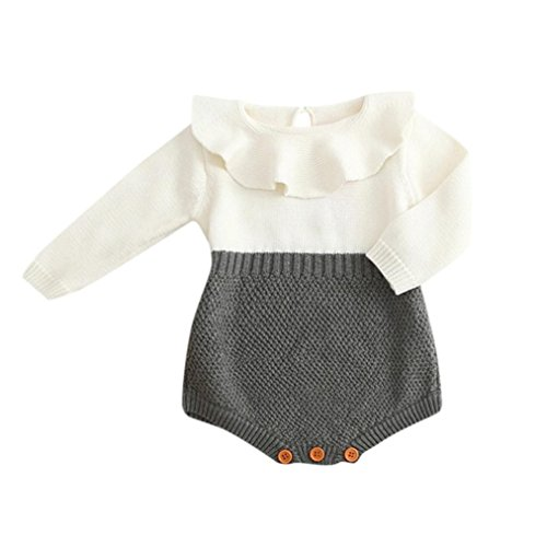 Straight Jacket Costume Ideas (Vovotrade Toddler/Infant Kids Girls Baby Knitted O-Neck Sweater Winter Princess Adorable Romper Cute Jumpsuit (3M, White))