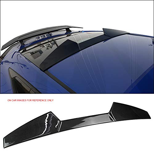 Roof Spoiler Fits 2016-2018 Honda Civic 2-Door Coupe | V Style Carbon Fiber (CF) Rear Trunk Wing Deck Lid by IKONMOTORSPORTS