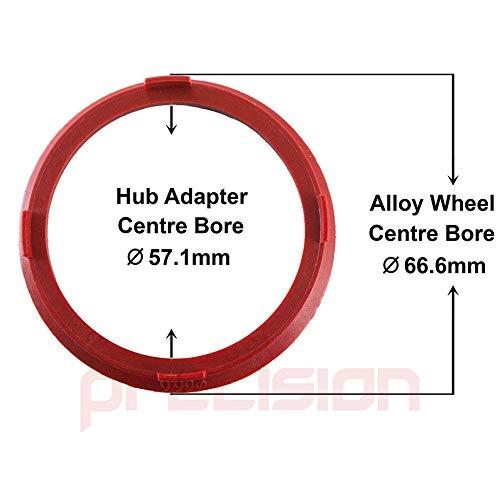 Precision 2 Pairs of Hub PCD Adapters 5x100 to 5x112 for /Àudi A4 B8//B9 Alloy Wheels PN.SFP-4AD01+20SB01+66.6Spigs111