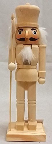 DIY Unpainted Natural Wood 10 inch Nutcracker