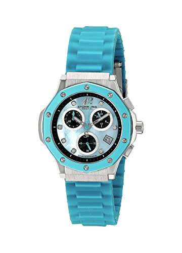 Stuhrling Original Women's 180R.1116II93 Special Reserve Apocalypse Cosmo Girl Stainless Steel Watch with Blue Rubber ()
