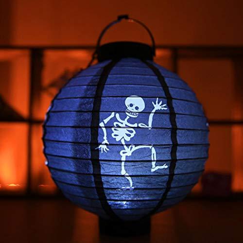 Tiowea Halloween Party Decoration Spider Bat Skeleton Hanging Paper Pumpki Sky Lanterns