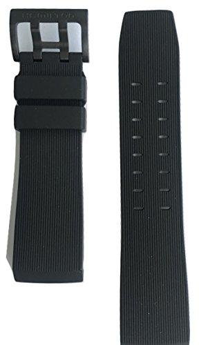 Authentic Hamilton Khaki Navy BelowZero Black Rubber Band Strap for Watch H78585333 by Hamilton