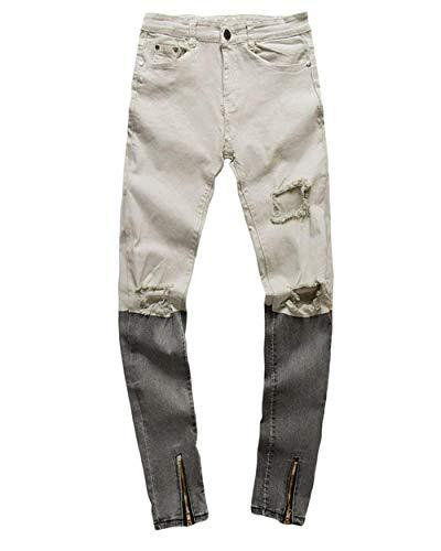 Pantalones Skinny Hombres Pantalón Rasgados Slim Vaqueros Pantalones Rasgado Pantalones Fashion Alsbild Vaqueros Mezclilla Pantalones Cónicos Lannister Ocio De Casuales Ciclista Hole De 6qz5fxI