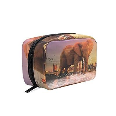 d4d4a3898af3 delicate ALAZA Elephant City Makeup Case Bag Appropriate Capacity ...