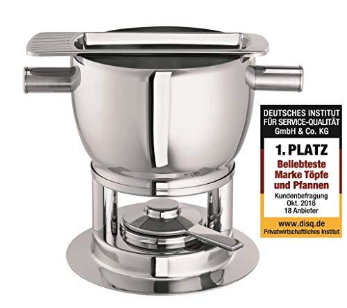 - Schulte-Ufer Fondue Pot Samba, incl. Plier, Stainless Steel 18/10, 20 cm, 4 L, 6982-20