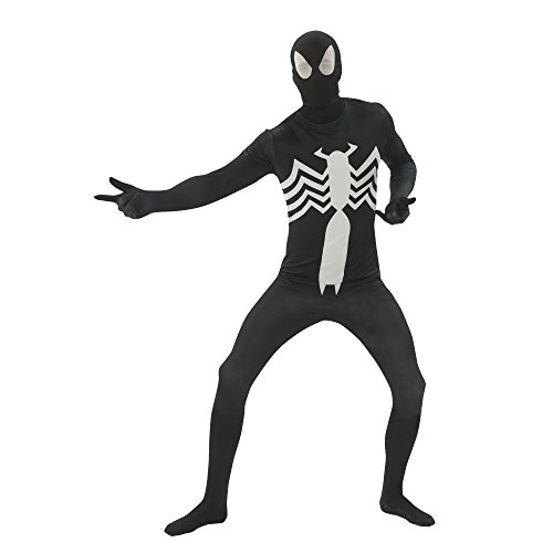 Marvel Spiderman Adult Costumes (Rubie's Costume Men's Marvel Universe Black Spider-man Adult 2nd Skin Costume, Multi, Large)