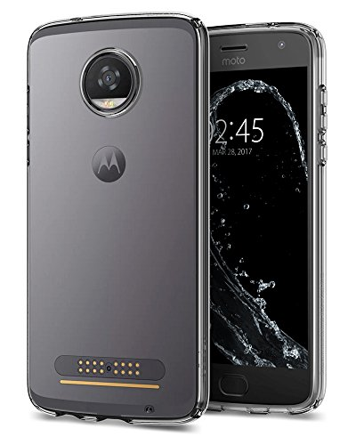 Spigen Liquid Crystal Moto Z2 Play Case with Slim Protection and Premium Clarity for Moto Z2 Play - Crystal Clear