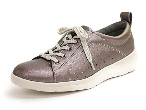 一般生き残ります協定パンジー 靴 超軽量 コンフォート ウォーキングシューズ シルバー 24.0