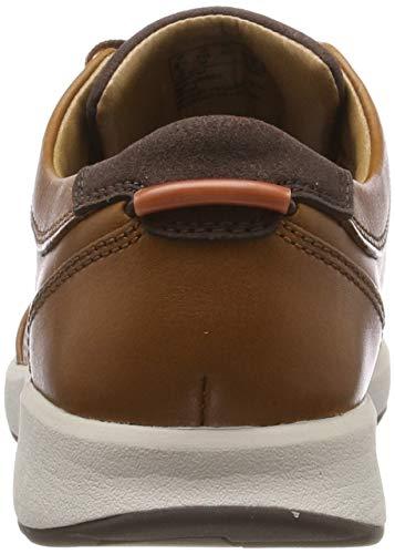 Leather Stringate Trail Uomo Scarpe Form Un Clarks tan Derby Marrone xqFOan