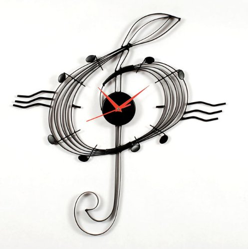 (MZ Berger Musical Clef Clock)