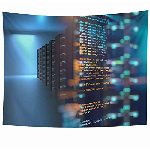 Ahawoso Tapestry 80 x 60 Inches Infrastructure Hosting Server Room Node Base Programming Data Big Storage Cloud Computing Technology Home Decor Wall Hanging Tapestries for Living Room Bedroom Dorm ()