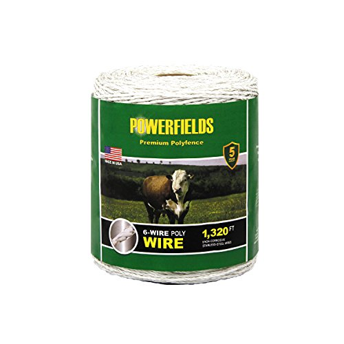 Powerfields EW615-1320 6 Wire Polywire, 1320-Feet, White