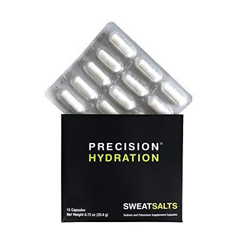 Precision Hydration SweatSalts - 15 Blister Packed (Waterproof) Electrolyte/Salt Capsules - Combat Cramp - All Natural Digestion-Friendly Formula - Gluten Free, Vegan/Vegetarian Friendly