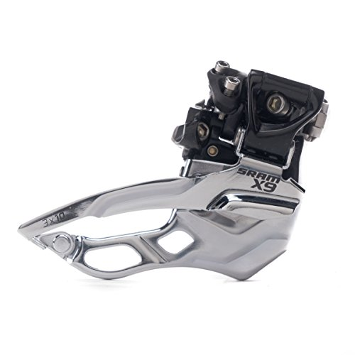 SRAM X9 Bicycle Front Derailleur with 3 x 10 High-Clamp 382 Top Pull