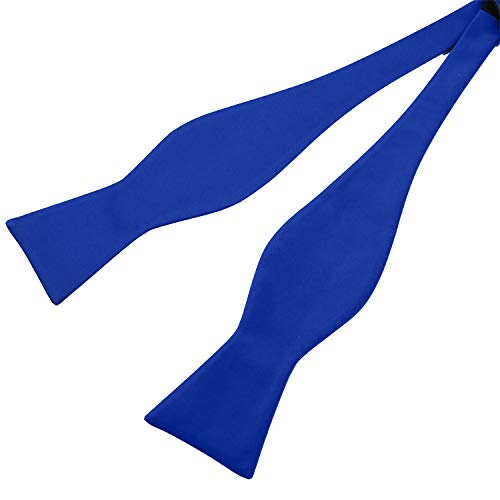 Mens Satin Self Tie Bowtie for Formal Tuxedo with Adjustable Length (Royal ()