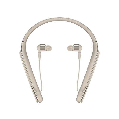 Sony WI1000X Premium Noise Cancelling Wireless Behind-Neck In Ear Headphones (International version/seller warranty) (Gold) by Sony