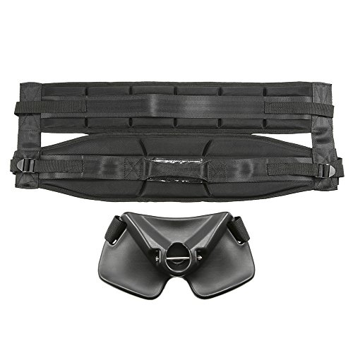 Stand Up Offshore Fishing Fighting Belt with Rod Holder Gimbal Kit Padded Fighting Waist Belt Harness ()