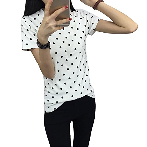 Fedi Apparel Women's Summer Short Sleeve - Polka Dot Tank Top Shirt Shopping Results