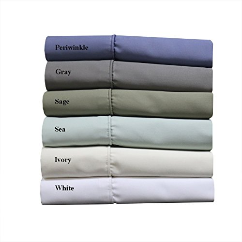 Wrinkle Free 1000 Thread Count Cotton Blend Solid White Queen Easy Care Bed Sheets- 55% Cotton, 45% Polyester sheet set ()