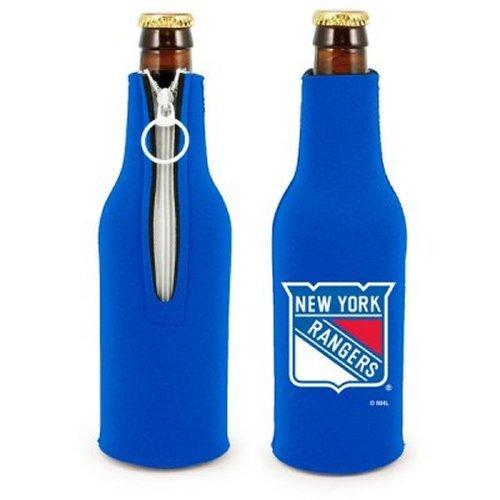 Neoprene Suit Bottle (NHL Rangers - Neoprene Bottle Suits (2) | New York Rangers Bottle Insulators with Zipper - Set of 2)