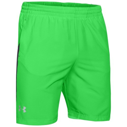 Under Armour Men's UA Launch 7' Woven Short, Poison/Stealth Gray/Reflective, MD X 7