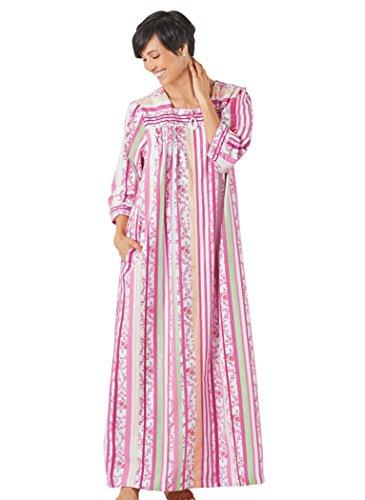 AmeriMark Women's Flannel Stripe Robe SM (6-8)/One Color