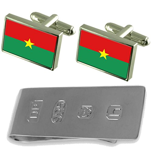 James Flag Burkina amp; Money Cufflinks Burkina Clip Bond Faso Faso fYngFqn