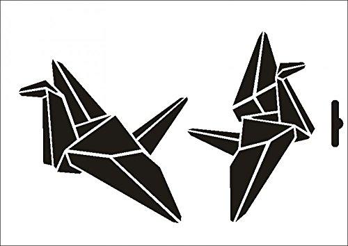 UMR-Design W-511 Crane Textil- / wallstencil Size A4
